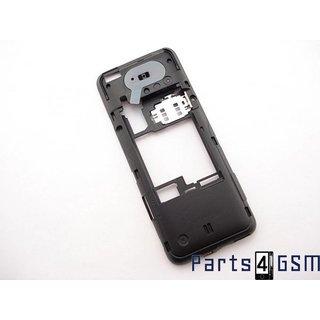 Nokia 207 Middenbehuizing, Zwart, 02504w3