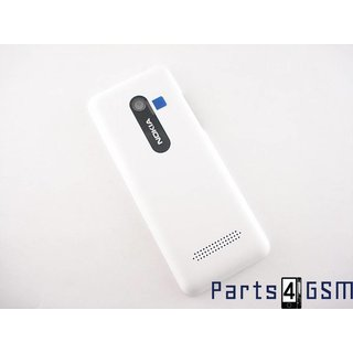 Nokia 206 Dual Sim Battery Cover White 02501H9