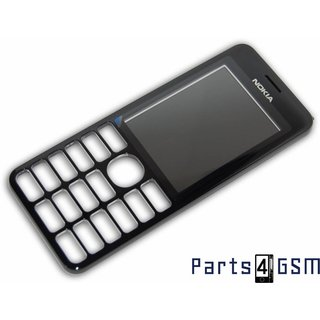 Nokia 206 Dual SIM Front Cover Black 02501H1