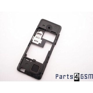 Nokia 206 Dual Sim Middle Cover Black 02501L2