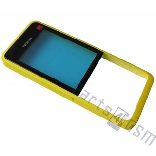 Nokia 301 Front cover incl. Display Window, Yellow, 02500P9