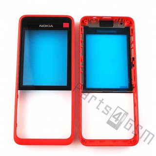 Nokia 301 Front cover incl. Display Window, Red, 02506G5