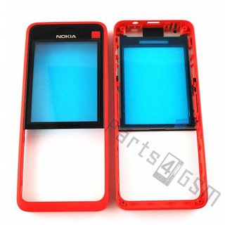 Nokia 301 Front cover incl. Display Window, Red, 02506G6