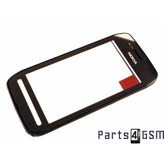 Nokia 603 Touchscreen Display + Frame Zwart 0089W24