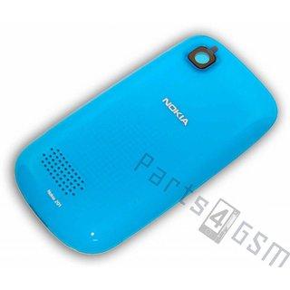 Nokia Asha 201 Accudeksel, LichtBlauw, 259451