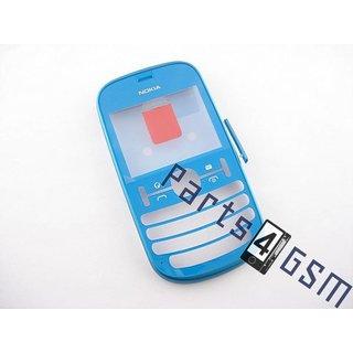Nokia Asha 201 Front Cover Frame, Blauw, 259321