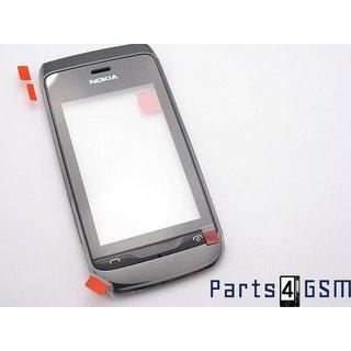 Nokia Asha 308, 309 Touchscreen Display + Frame Zwart 00807G4