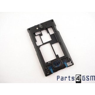 Nokia Asha 503 Middenbehuizing, Zwart, 02504M0
