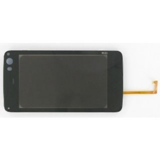 Nokia N900 Digitizer Touch Panel Outer Glass Black