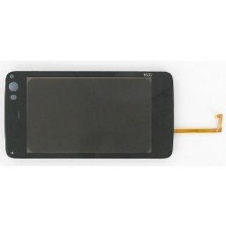 Nokia N900 Touchpanel Glas, Buitenvenster Raampje Zwart