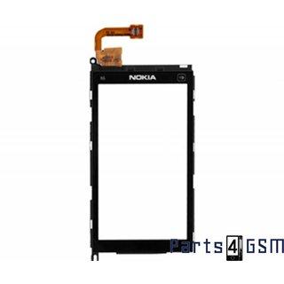 Nokia X6 Touchpanel Glas, Buitenvenster Raampje + Frame Zwart