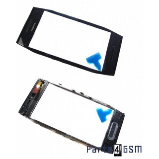 Nokia X7 Touchscreen Display + Frame + Menu Key Black 0089M06