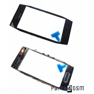 Nokia X7 Touchscreen Display + Frame + Menu Toetsen Zwart 0089M06