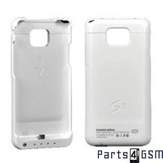 Samsung Galaxy SII i9100 Externe Accu Case WitBlister