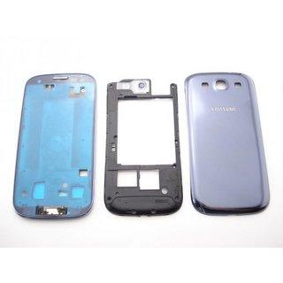 Samsung Galaxy S3 i9300 Behuizing Set Compleet Blauw