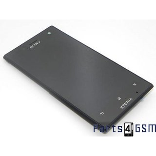 Sony Xperia Acro S LT26W LCD Display + Touchscreen + Frame Black 1266-0987