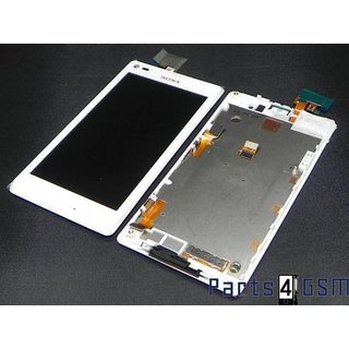 Sony Xperia L C2105 LCD Display + Touchscreen + Frame White 78P5320002N