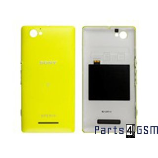 Sony Xperia M C1905 Achterbehuizing, Geel, 1274-1137