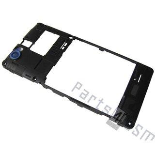 Sony Xperia M C1905 Middenbehuizing Camera, Zwart, 1272-3745