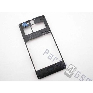 Sony Xperia M Dual C2005 Middle Cover, Black, 1272-3747