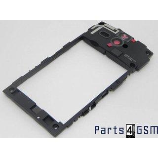 Sony Xperia U ST25i Middenbehuizing Zwart 1252-1563