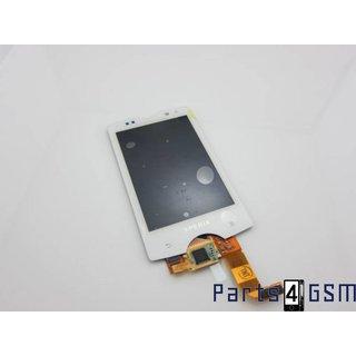 Sony Ericsson Xperia mini pro Intern Beeldscherm + Touchpanel Glas, Buitenvenster Raampje Wit 1242-5572+1248-9562