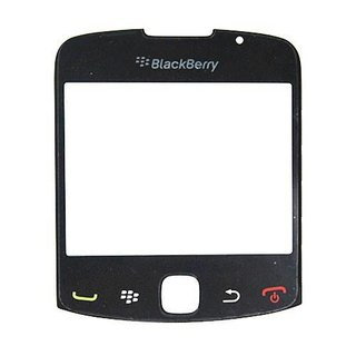 BlackBerry Curve 3G 9300 Displayglas Zwart
