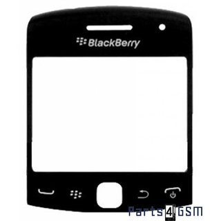BlackBerry Curve 9360 LCD Display Glass Lens + Frame  Black