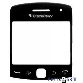 BlackBerry Curve 9360 LCD Displayglas + Frame Zwart