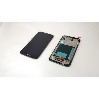 LG Optimus G2 D802 Lcd Display + Touchscreen + Frame Zwart ACQ86917701