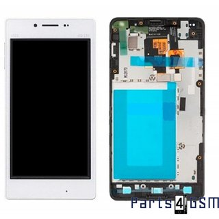 LG Optimus G E975 LCD Display + Touchscreen + Frame White ACQ86366902