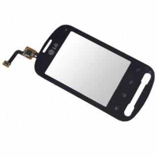 P350-Optimus-Me Touchpanel Glas, Buitenvenster Raampje Zwart