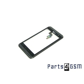LG P920-Optimus-3D-Speed Digitizer Touch Panel Outer Glass + Frame ACQ85371101 Black