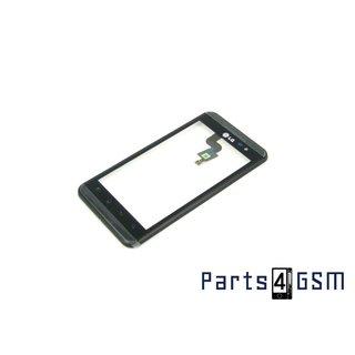 LG P920-Optimus-3D-Speed Touchpanel Glas, Buitenvenster Raampje + Frame ACQ85371101 Zwart