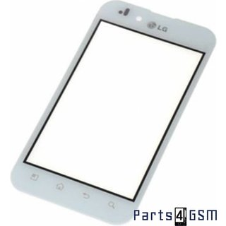 LG P970-Optimus Digitizer Touch Panel Outer Glass White EBD61045406 Wit