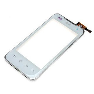 LG P990-Optimus-2X-Speed Digitizer Touch Panel Outer Glass + Frame White ACGK0173906