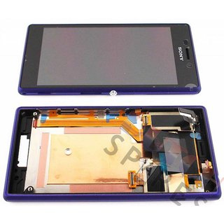Sony Xperia M2 D2303, D2305, D2306 Lcd Display Module, Paars, 78P7120005N