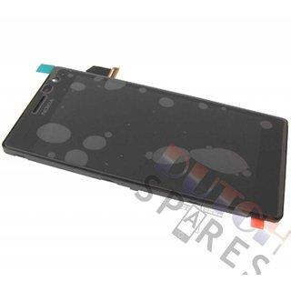 Nokia Lumia 730 LCD Display Module, Black, 00813B2