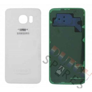 Samsung G920F Galaxy S6 Battery Cover, White, GH82-09548B