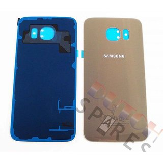 Samsung G920F Galaxy S6 Battery Cover, Gold, GH82-09548C