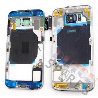 Samsung G920F Galaxy S6 Middenbehuizing, Zwart, GH96-08583A