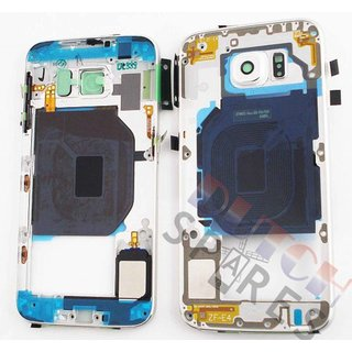 Samsung G920F Galaxy S6 Mittel Gehäuse, Weiß, GH96-08583B