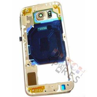 Samsung G920F Galaxy S6 Mittel Gehäuse, Gold, GH96-08583C