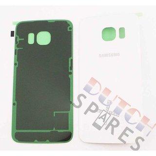 Samsung G925F Galaxy S6 Edge Akkudeckel , Weiß, GH82-09602B