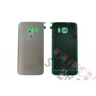 Samsung G925F Galaxy S6 Edge Battery Cover, Gold, GH82-09602C