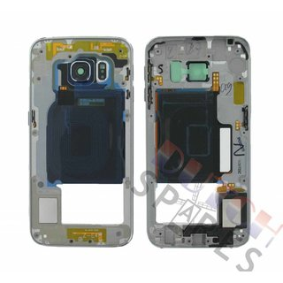 Samsung G925F Galaxy S6 Edge Middle Cover, Black, GH96-08376A