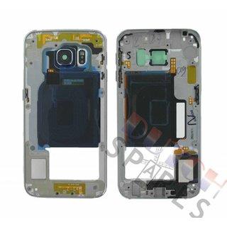 Samsung G925F Galaxy S6 Edge Mittel Gehäuse, Schwarz, GH96-08376A