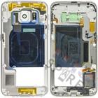 Samsung Middle Cover G925F Galaxy S6 Edge, White, GH96-08376B