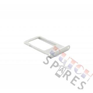 Samsung G925F Galaxy S6 Edge Simkarten Halter, Weiß, GH98-35872B