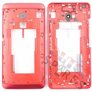 HTC One Max T6 Middenbehuizing, Rood